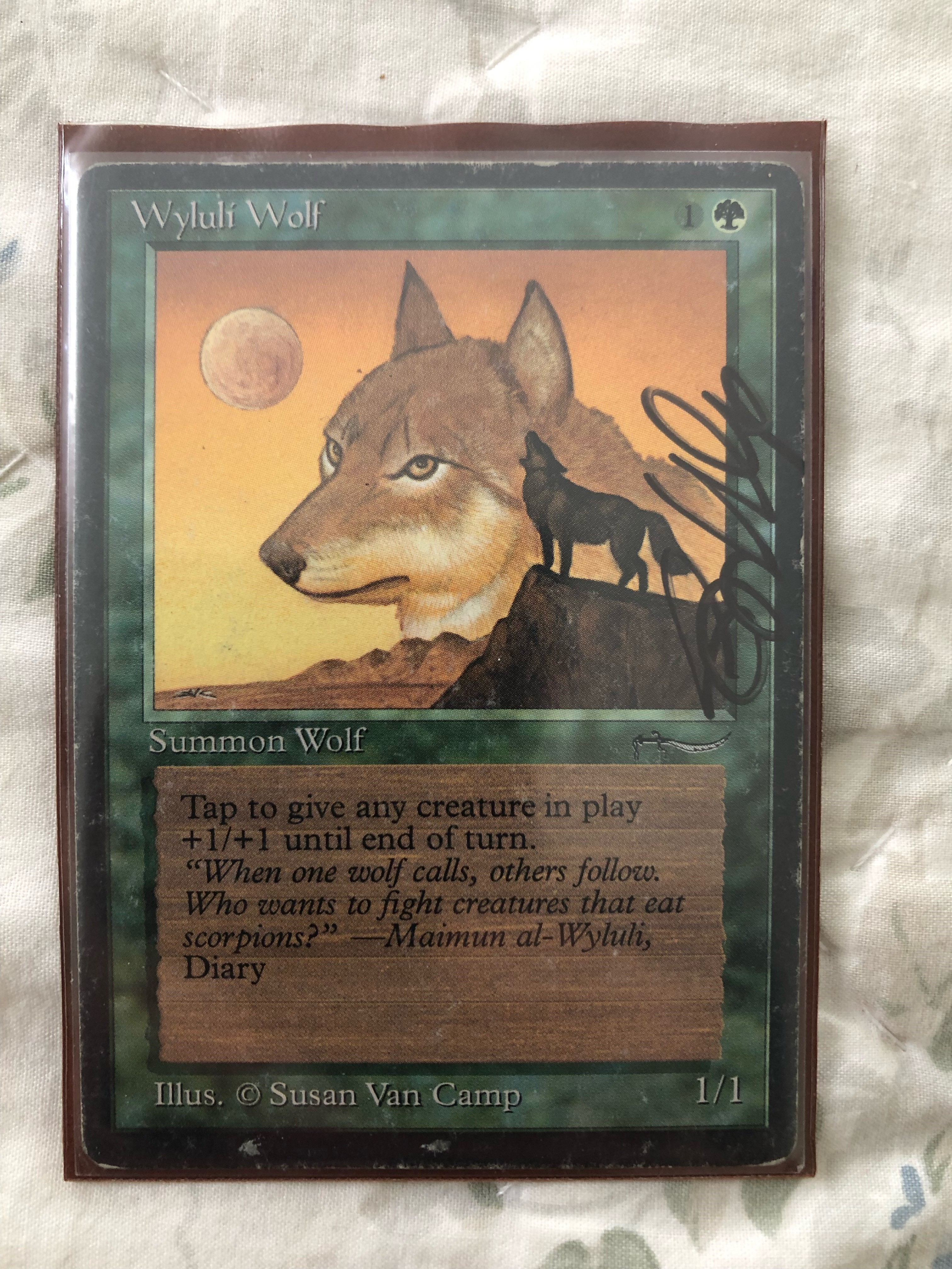 signed wolf
